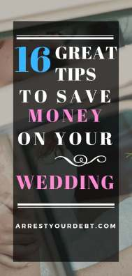 pinterest pin save money on your wedding