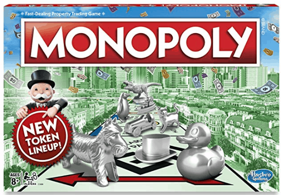 Classic Monopoly Or Fortnite Monopoly (ages 8+)