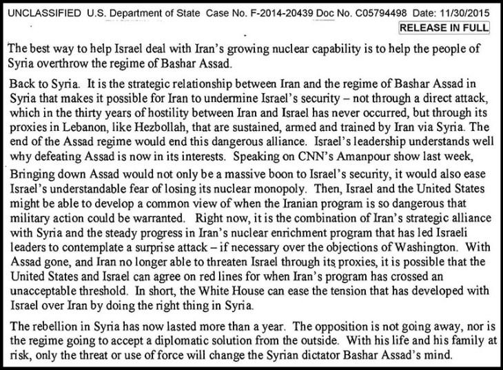 b1eb60f83 Cet email montre clairement que depuis le tout début de la crise syrienne