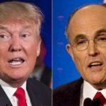 trump_ giuliani Donald Trump endorsed by Rudy Giuliani  CREDIT: AP/EPA