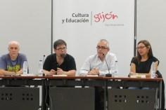 Miguel Rojo, Pablo Antón Marín Estrada, Antón García y Marta Mori