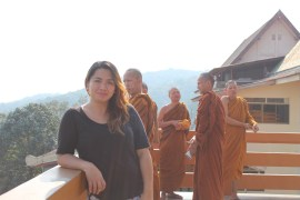With the monks in Thailand