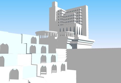 city colour with shadows