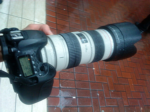 60D and 70-200mm f/2.8L IS wet in the rain
