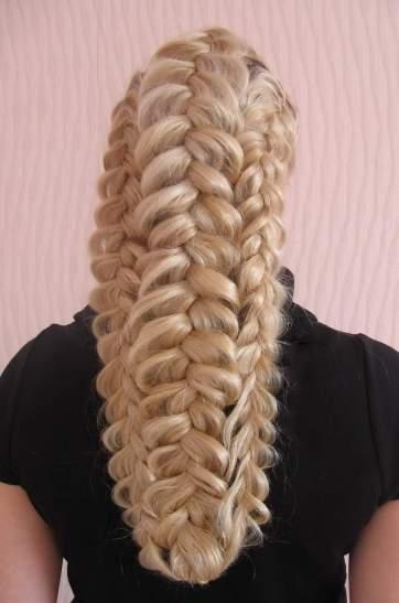 прически из длинных волос на каждый день - МАССИВНАЯ ФРАНЦУЗСКАЯ КОСА
