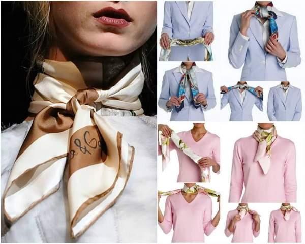 как красиво завязать платок на шее - Мода и стиль.