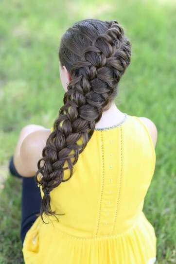прически для средних волос на каждый день - ФРАНЦУЗСКАЯ КОСА
