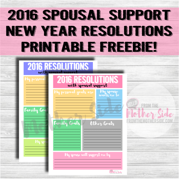 2016 Spousal Support Resolutions Printable
