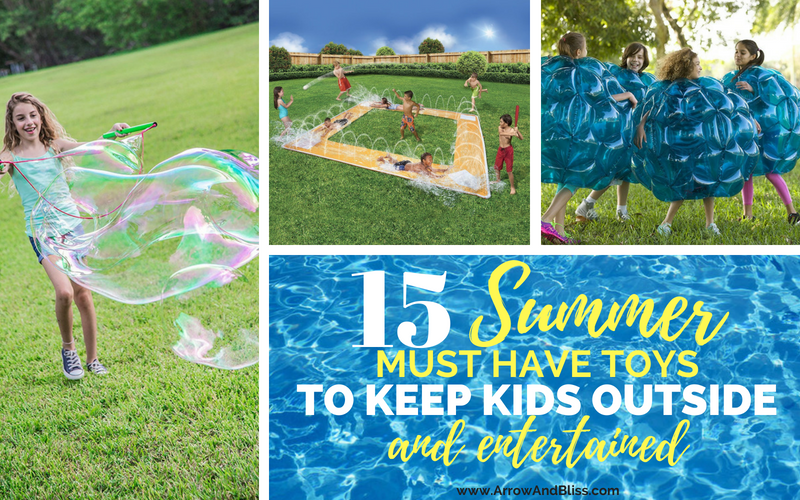 Check out these summer toys to keep kids outside and entertained compiled by Victoria Shari at Arrow and Bliss
