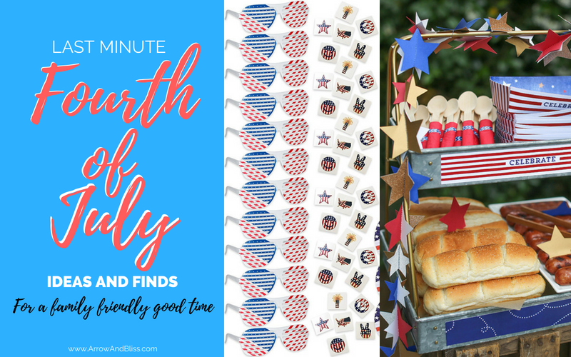 Check out these last minute 4th of July ideas and finds at Arrow and Bliss. #party #holiday #events #4thofjuly #fourthofjuly #decorations #ideas