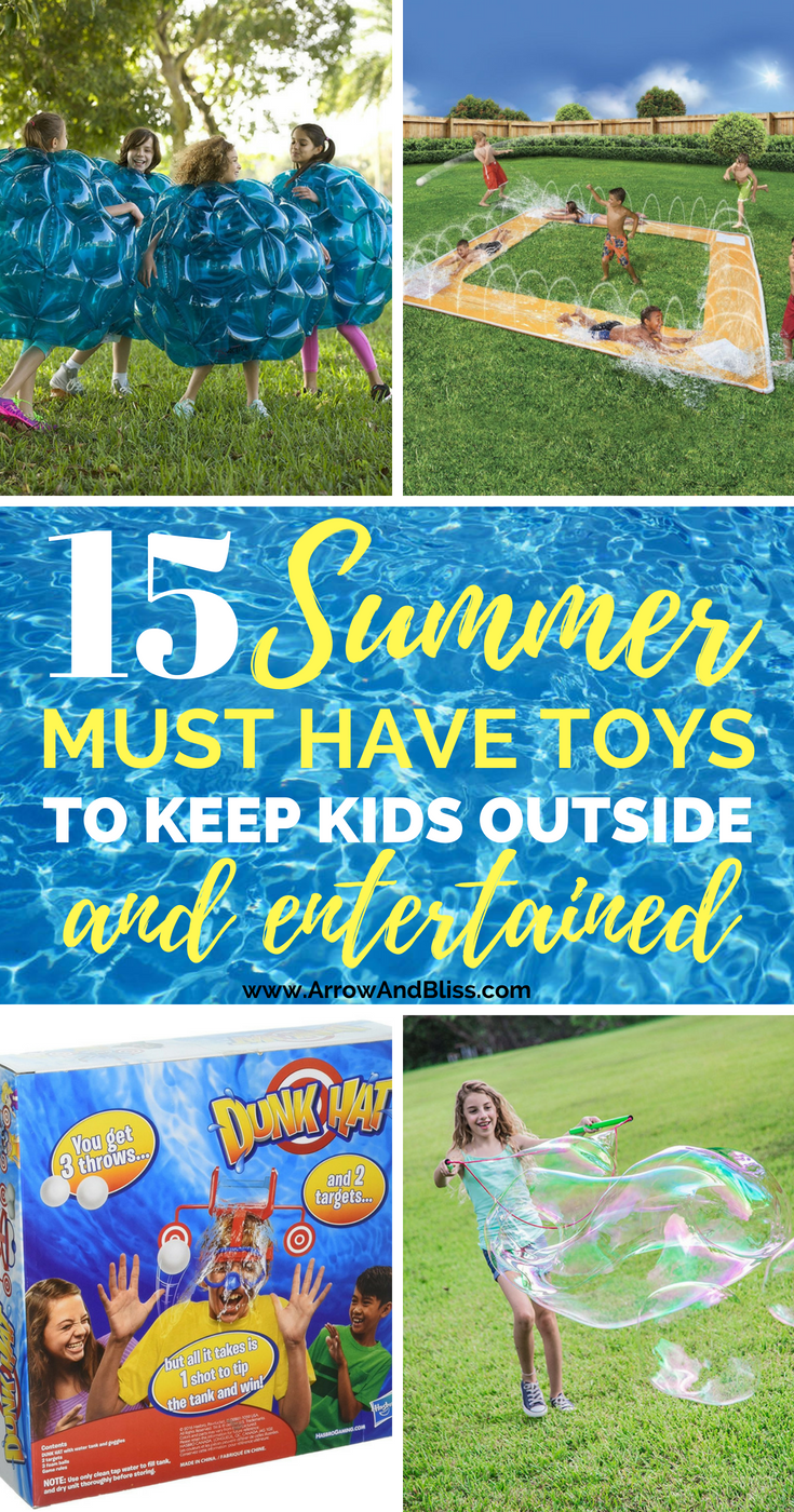 Check out these summer toys to keep kids outside and entertained. Compiled by Victoria Shari at Arrow and Bliss