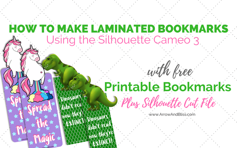 How to Make Laminated Bookmarks- With Free Printable Bookmarks and Cutting File