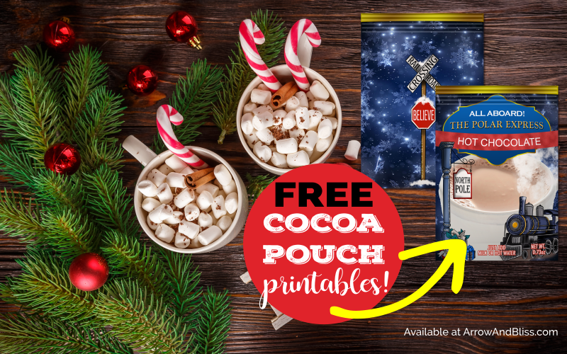 Polar Express Hot Cocoa Packet Printable