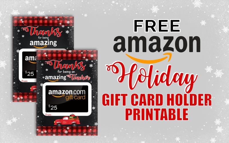 photograph regarding Printable Amazon Gift Card named Totally free Printable Holiday vacation Reward Card Holder for Amazon