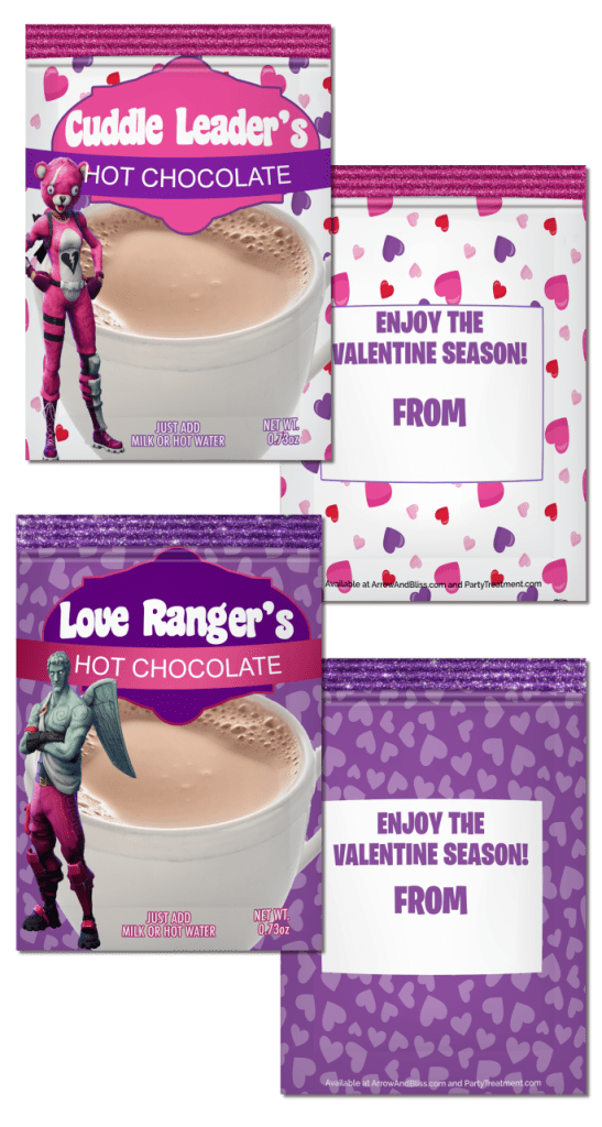 Free Fortnite Valentine Favor Printables
