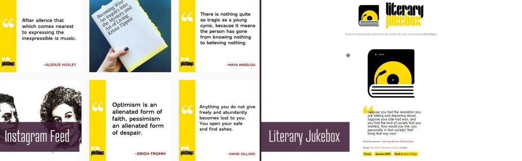 brain pickings instagram and tumblr literary jukebox accounts