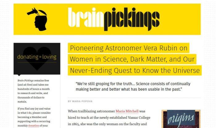 Brain Pickings Screenshot
