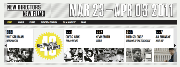 New Directors / New Films - Interactive Timeline
