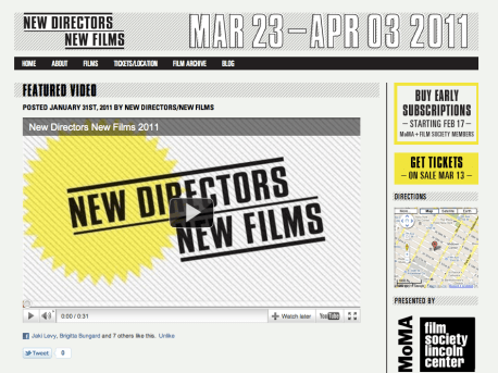 New Directors / New Films - Blog Post