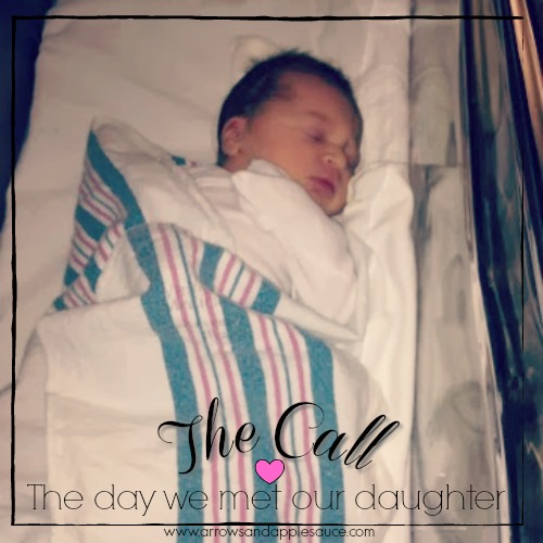 January 8th, 2014. The day we found out we were parents to a beautiful little girl. The call that changed our lives.