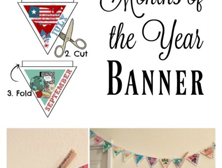 Learning the months of the year. Download this cute banner printable to hang in your classroom or homeschool room. Fun and colorful!