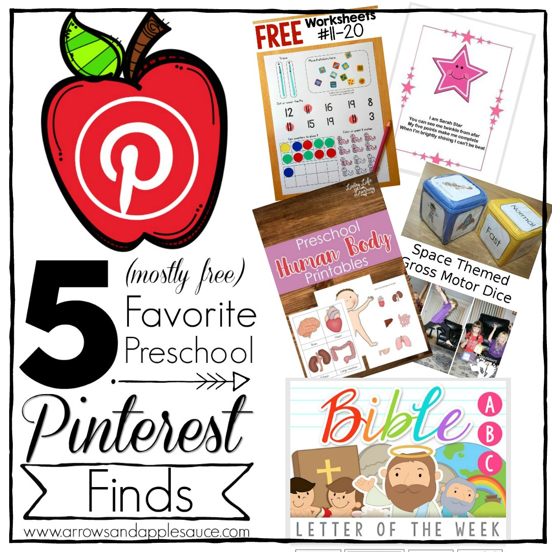 Our favorite Pinterest preschool finds. You could build an entire preschool curiculum from Pinterest finds! Here are some printables (mostly free) that we keep coming back to.
