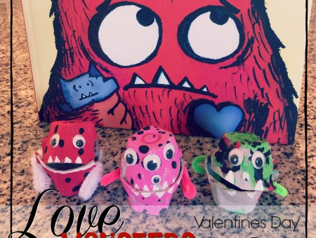 A fun and easy little kids craft based on the book Love Monster by Rachel Bright. A great way to celebrate Valentines Day with your kiddos! #lovemonster #easykidscrafts #valentinesday