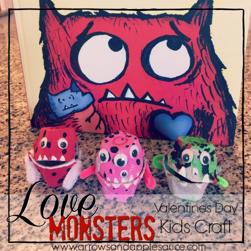 Love Monster Valentines Day Craft
