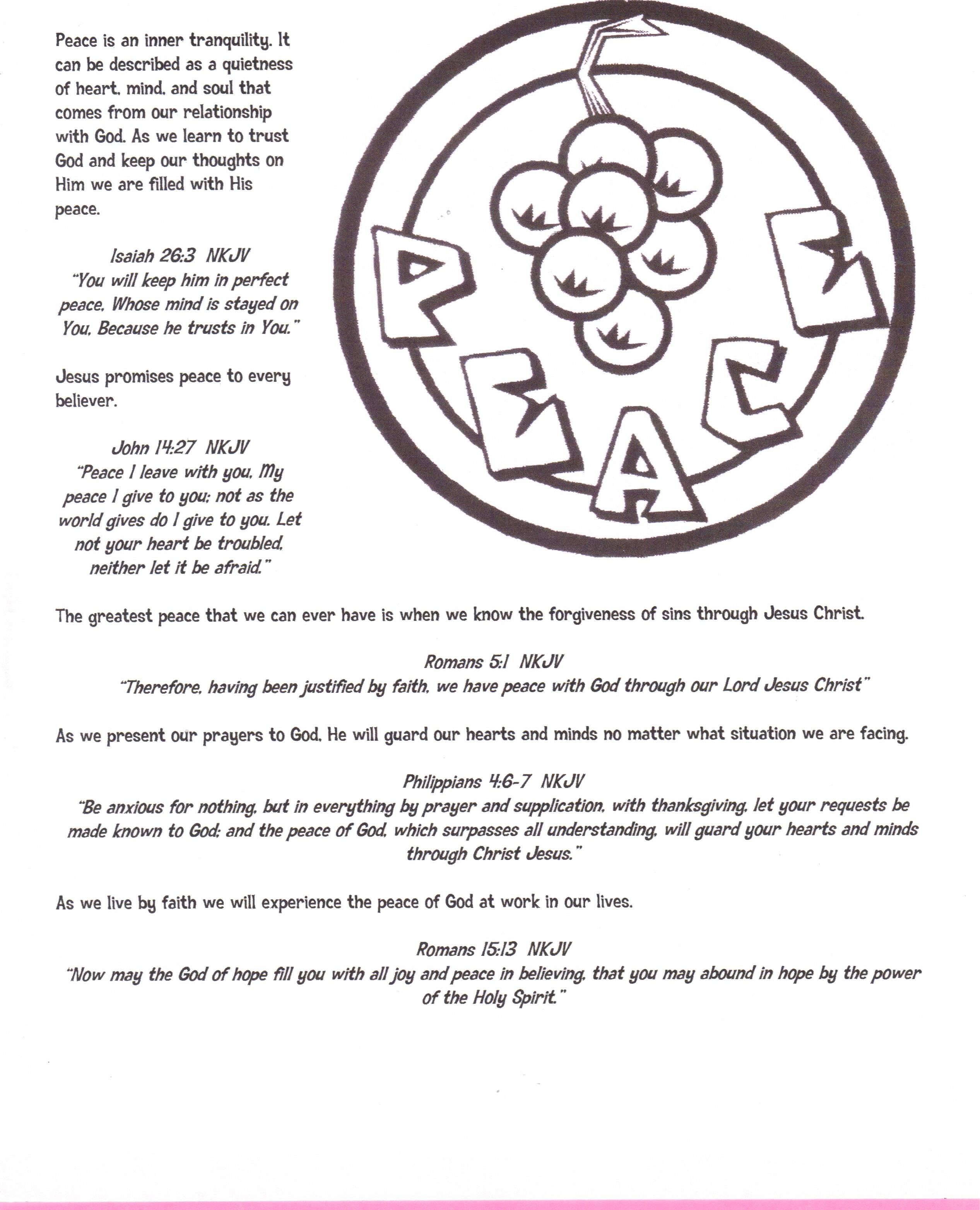 Fruit Of The Spirit Children S Booklet
