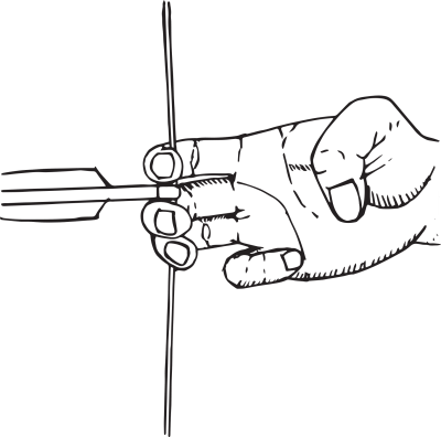 how to shoot a recurve bow - hooking an arrow with 3 fingertips