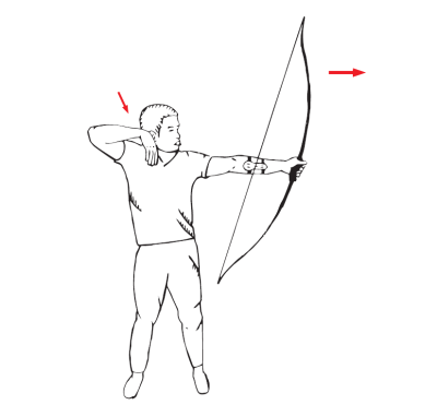 how to shoot a recurve bow - releasing the arrow
