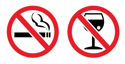 Avoid tobacco smoke and alcohol