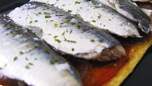 Coca de sardinas