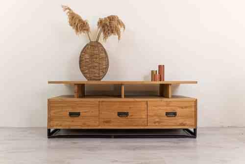 Industrieel tv meubel hout strak praktisch Ars-Longa