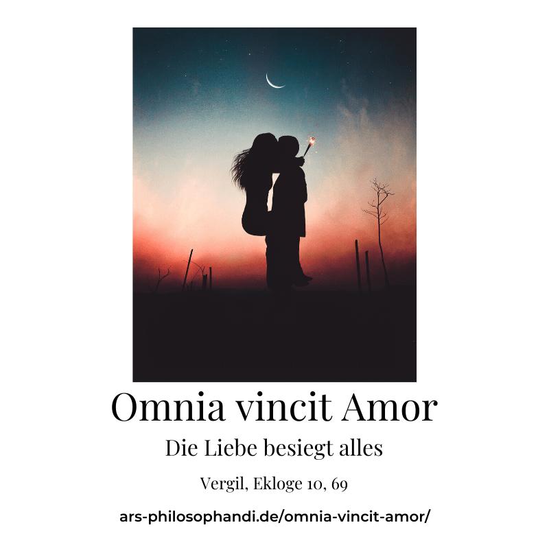 Bild mit dem Motto: Omnia vincit amor. Die Liebe beseigt alles.