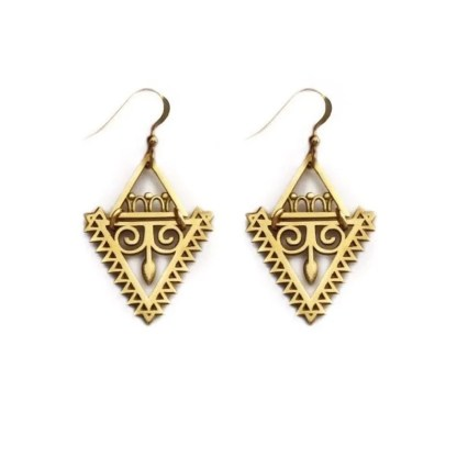 Triangle Arrow Goddess Earrings