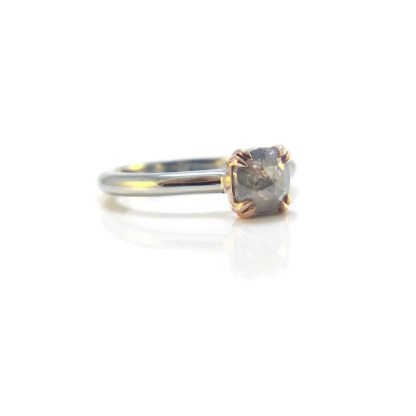 2-Tone Grey Diamond Ring