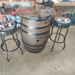 Jack Daniels barrel pub set