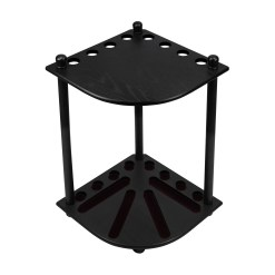 IMPERIAL CORNER CUE RACK BLACK