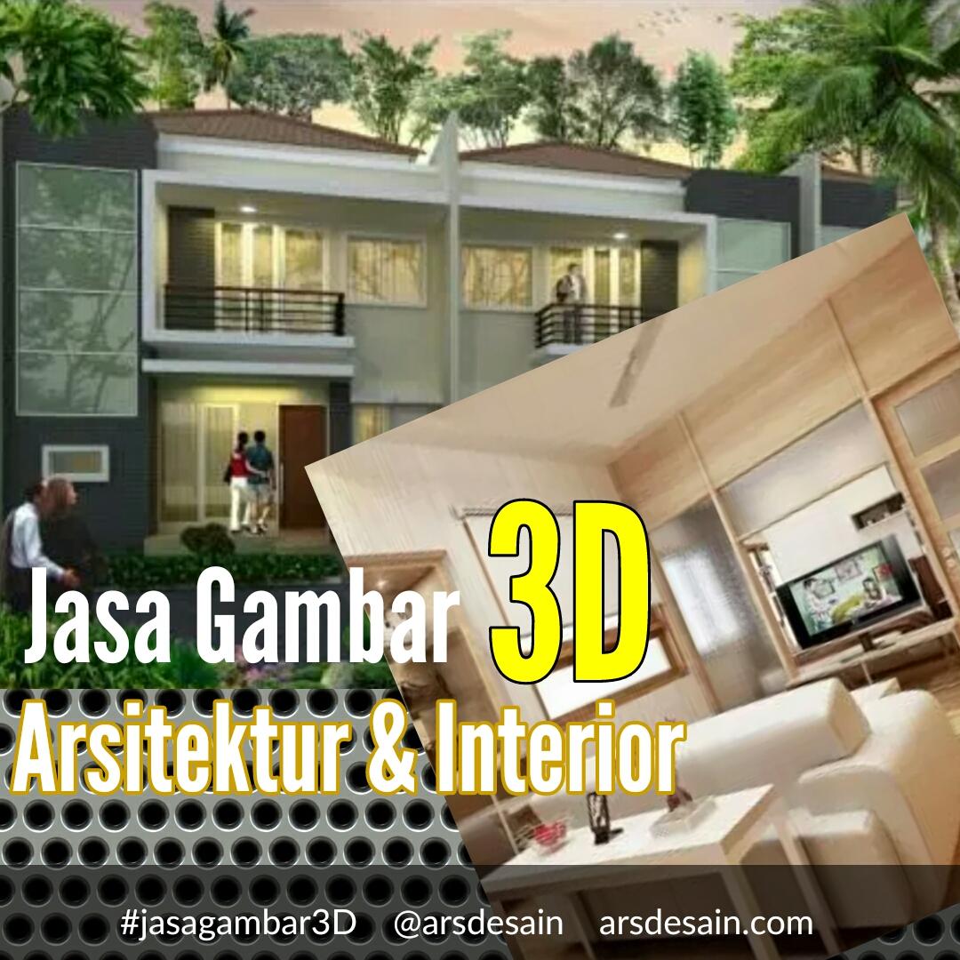 Jasa Gambar 3D Arsitektur dan Interior
