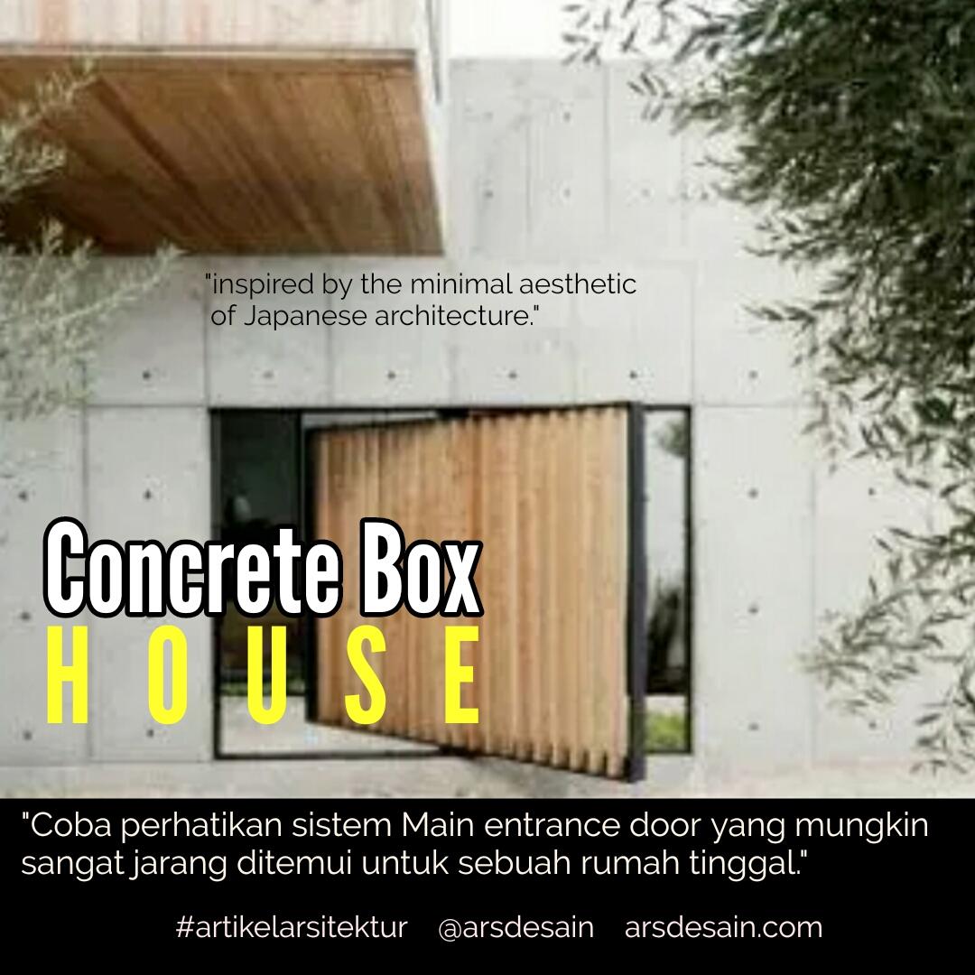 Rumah Minimalis Dinding Beton dan Kayu Yang Dominan