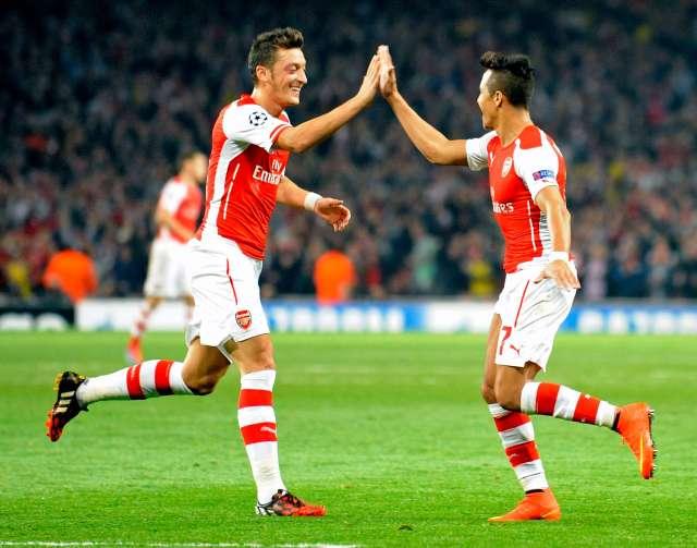 Sanchez and Ozil