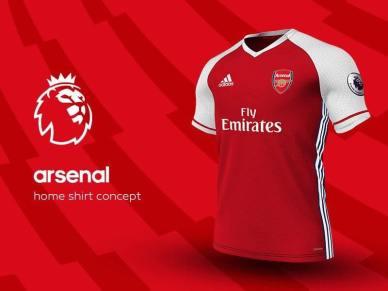 Sleeve sponsor, adidas concept kit, adidas arsenal