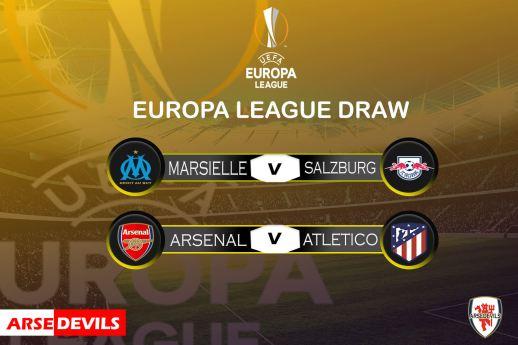 Arsenal Europa league draw, europa league draw, arsenal vs athletico, athletico europa draw, athletico draw vs arsenal,