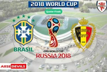 Brazil Vs Belgium, FIFA World Cup 2018, Russia