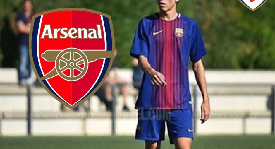Joel Lopez to Arsenal, Barcelona wonderkid to Arsenal, Arsenal sign Barcelona Defender