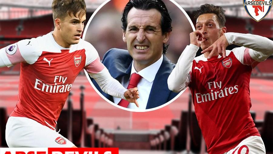 Emery, Unai Emery, Mesut Ozil, Denis Suarez, barcelona players