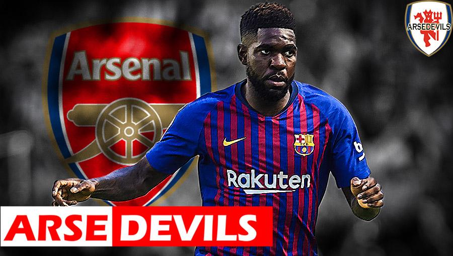 Umtiti, Umtiti linked to Arsenal