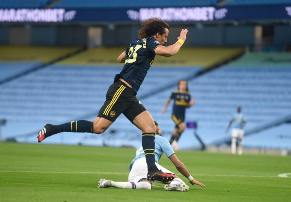 Man City vs Arsenal, City v Arsenal, Riyad Mahrez, David Luiz