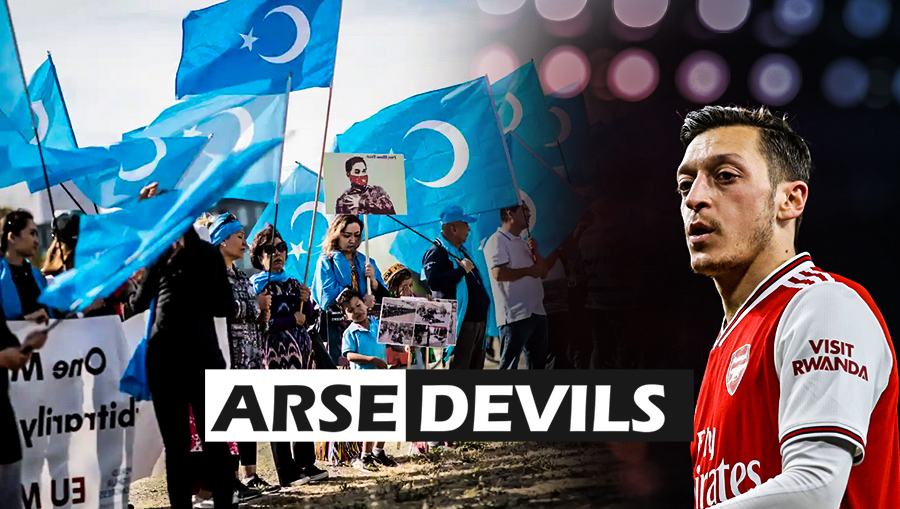 Ozil Uyghur Issue Arsenal ban arteta teammate rift censureship arsenal premier league duplicity